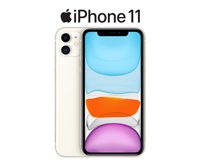 iPhone 11 front screen and back screen in white