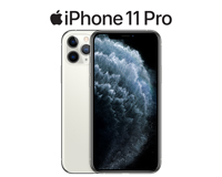 iPhone 11 Pro front and back view in white