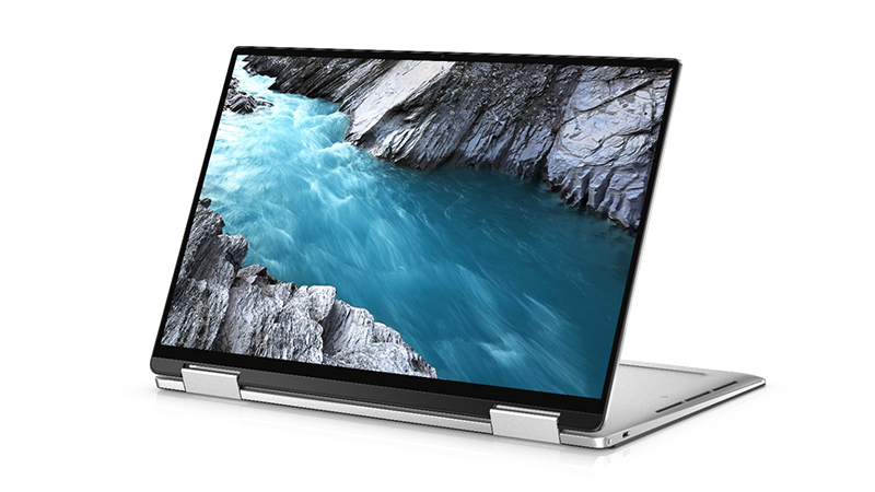 Open front view of the Dell XPS 7390