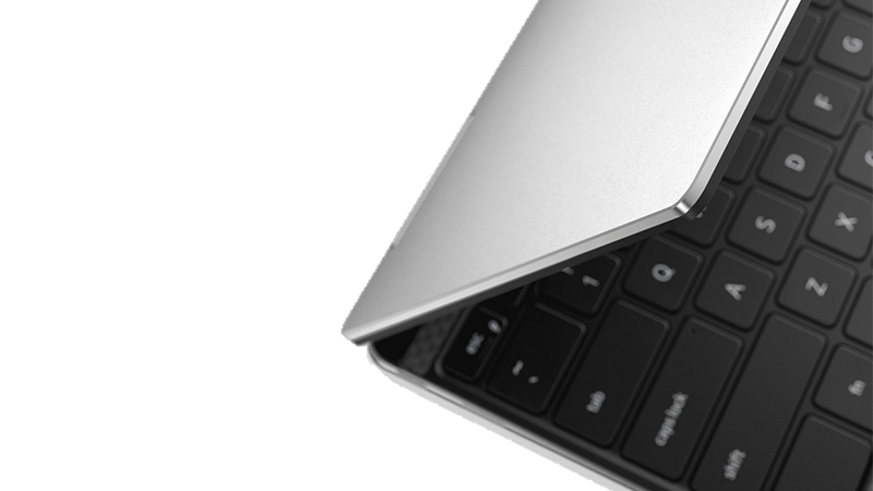 Hinge view of Dell XPS 7390