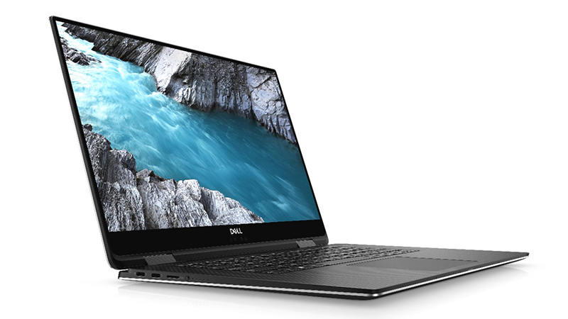 Dell XPS 15 2-in-1 open lid side view