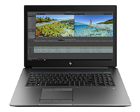 HP ZBook 17 G6 Mobile Workstation front open view