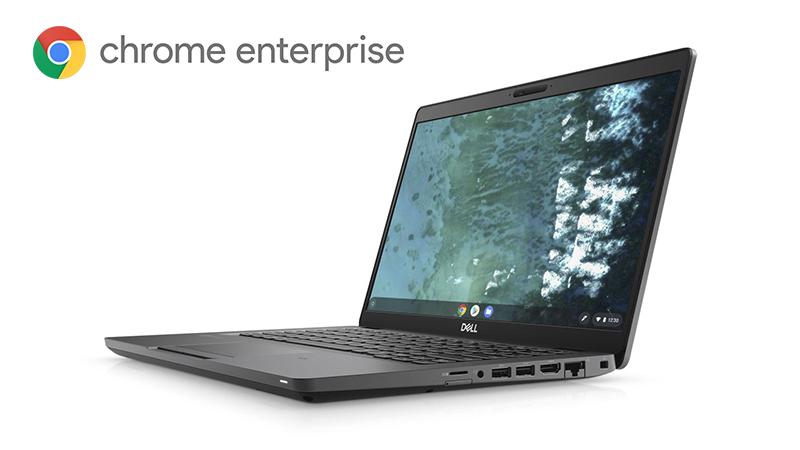Dell Latitude 5400 Chrome Enterprise side view open lid