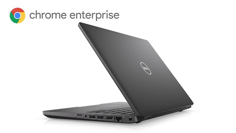 Dell Latitude 5400 ChromeBook Enterprise back open lid view
