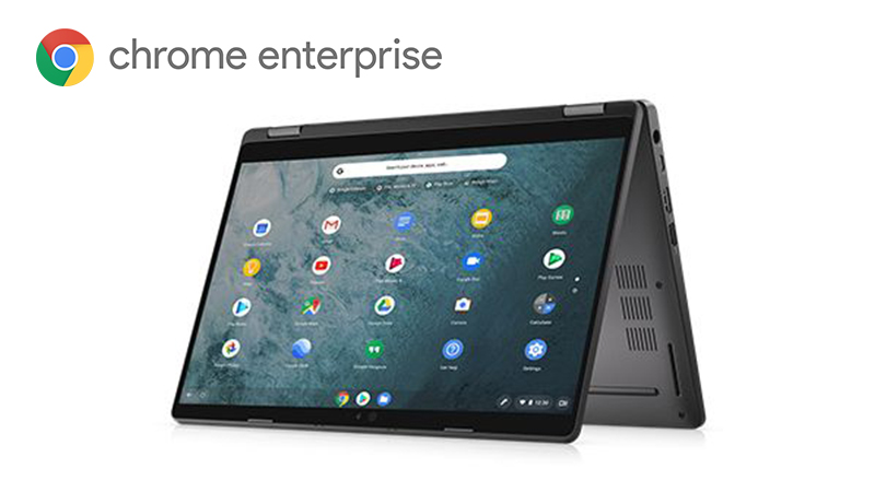 Dell Latitude 5300 2-in-1 ChromeBook Enterprise tablet view