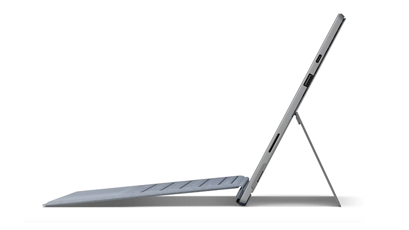 Microsoft Surface Pro 7 & Type Cover- Side View