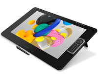 Wacom Cintiq Pro front side view with pen