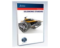 SOLIDWORKS Standard 3D CAD product packaging on white background