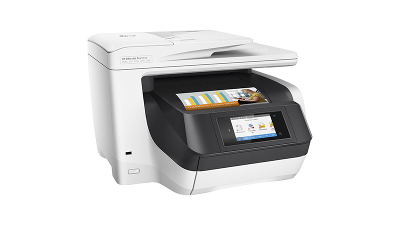 HP Officejet Pro 8730 A4 Colour Multifunction Inkjet Printer front view