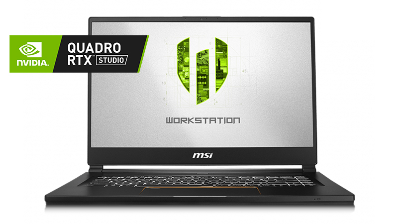 MSI WS65 Mobile Workstation front open view