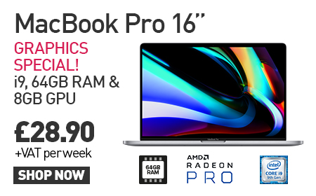 """The MacBook Pro 16"""" is now available from HardSoft using Flexi-Lease or Pure-rental!"""