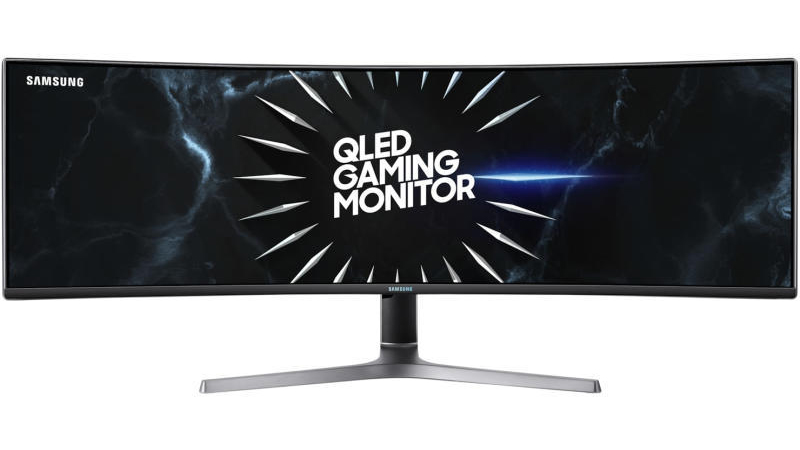 """Samsung 49"""" Dual Quad HD Curved Display front view"""