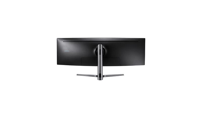 "Samsung 49"" Dual Quad HD Curved Display back view"