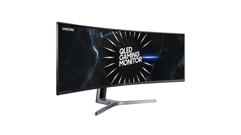 """Samsung 49"""" Dual Quad HD Curved Display front side view"""