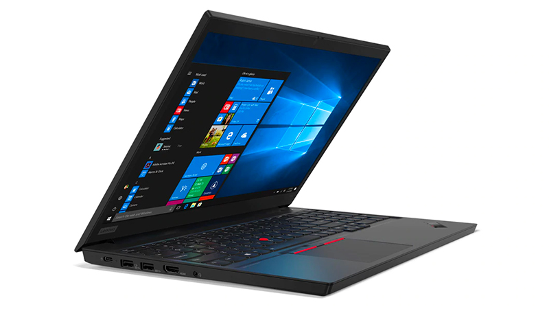 Lenovo ThinkPad E15 front open side view
