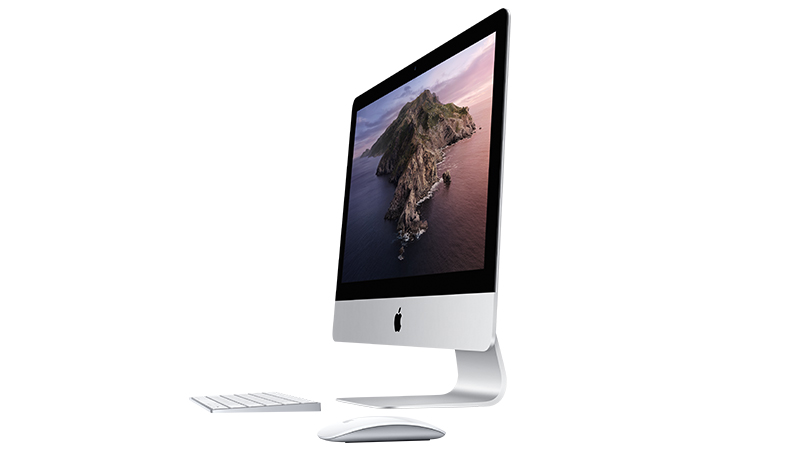 """Apple iMac 21.5"""" 2019 - Gallery image - Side view - Magic Mouse & Keyboard"""