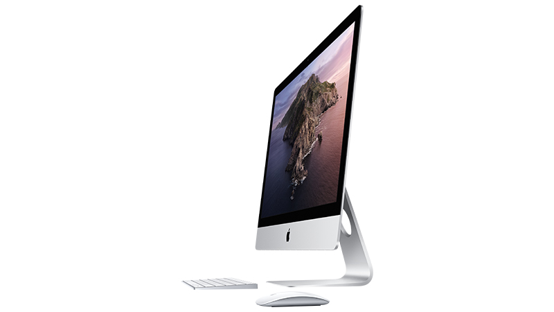 "Apple iMac 27"" 2019 - Gallery image - Side view - Magic Mouse & Keyboard"