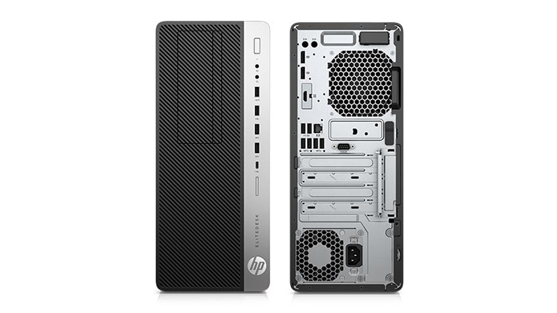 HP EliteDesk 800 G3 SFF front and back view