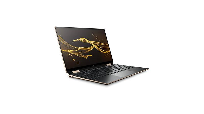 HP Spectre x360 convertible laptop open side view