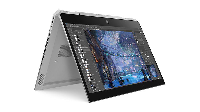 HP ZBook Studio x360 G5 Mobile Workstation tablet back view