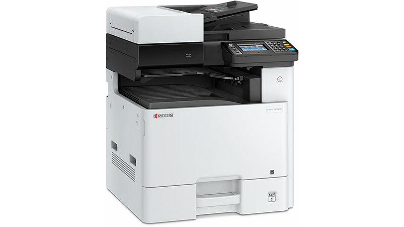 Kyocera ECOSYS M8124cidn A3 Colour Multifunction Laser Printer front side view