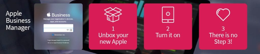 Apple business manager in 3 easy steps