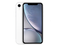 Apple iPhone XR front silver view
