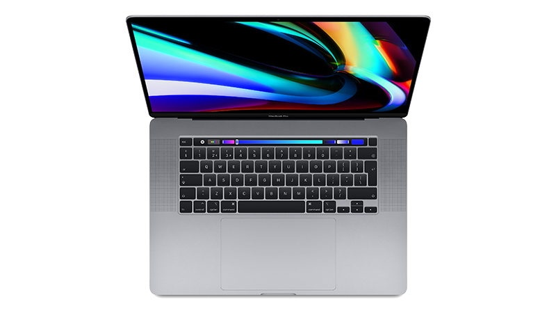 "Apple MacBook Pro 16"" open display and keyboard view"