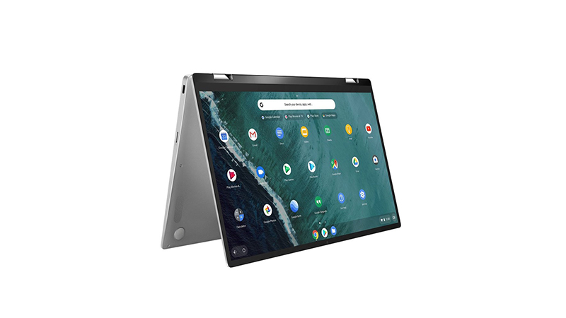 Asus Chromebook Flip C434TA flipped upside down tablet view