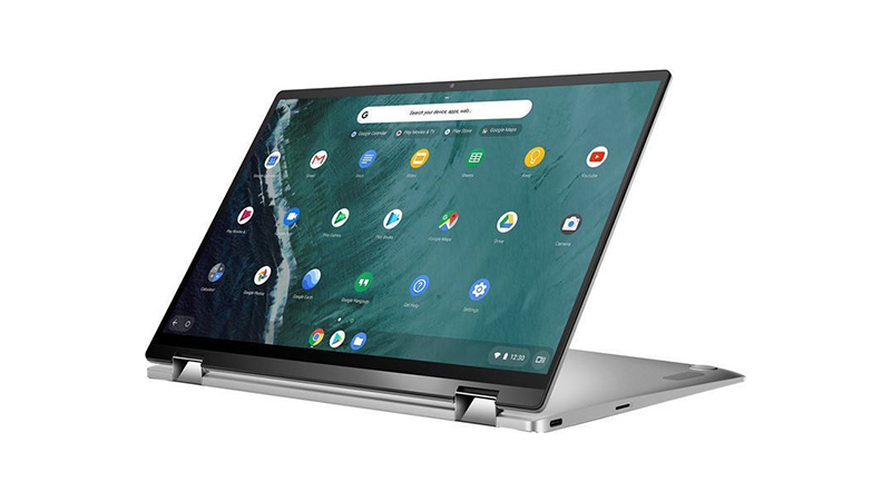 Asus Chromebook Flip C434TA tablet side view