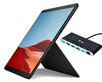Surface Pro X with stand and FREE i-Tec Dock - Featured