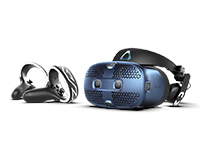 HTC VIVE Cosmos headset with controllers
