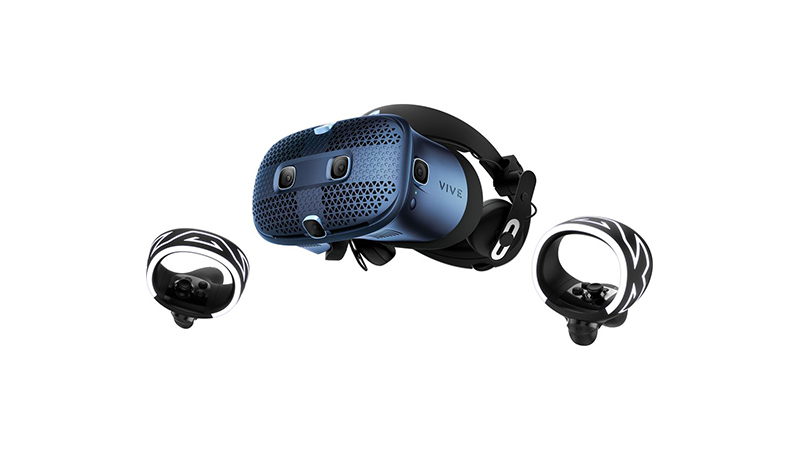 HTC VIVE Cosmos headset with 2 controllers