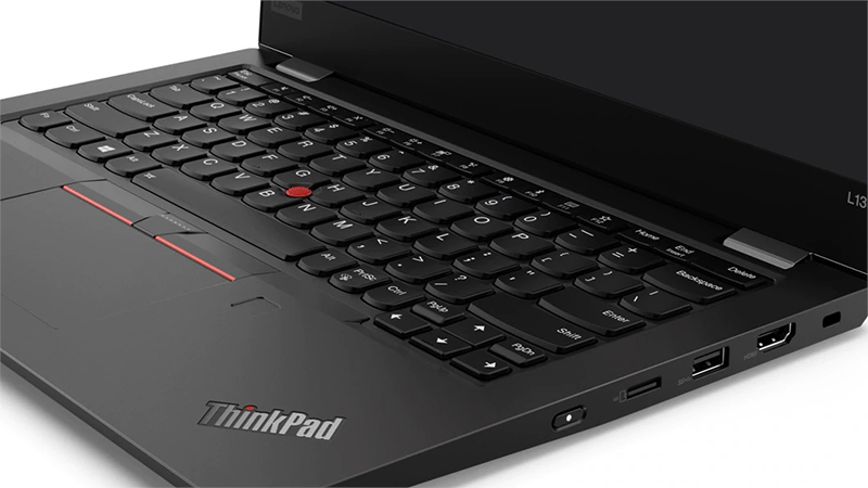 Lenovo ThinkPad L13 keyboard open view