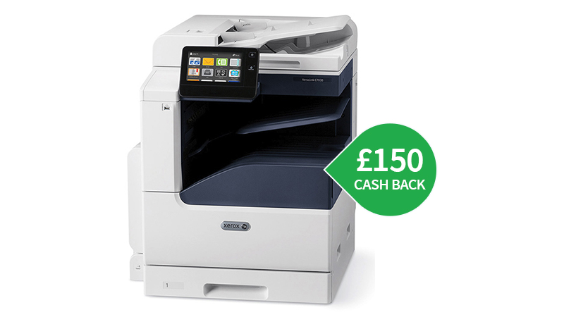 Xerox C7020DNW A3 printer with £150 cashback