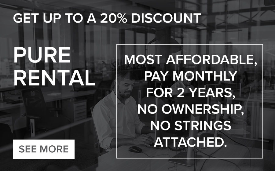 Get up to 20% Discount with Pure Rental