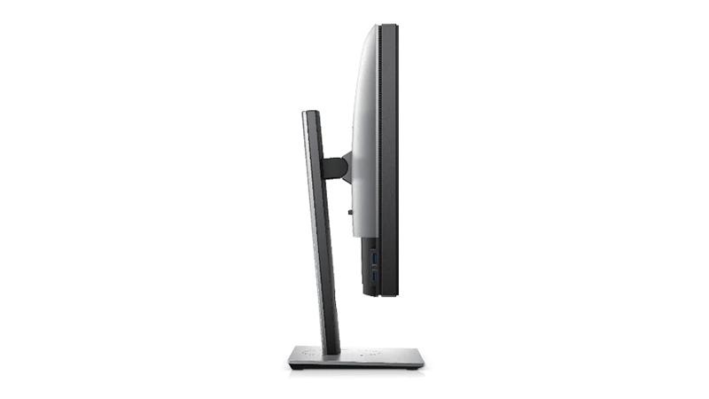 "Dell UltraSharp 27"" 4K HDR monitor side view"