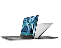 Dell XPS 15 7590 front side view and back view