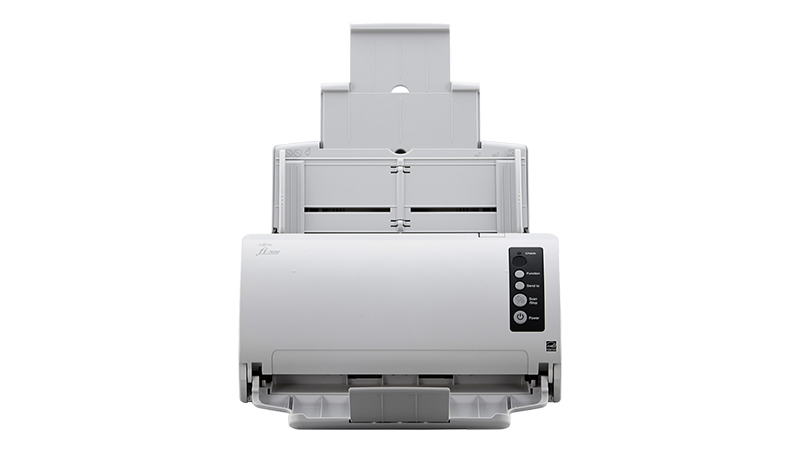 Fujitsu FI-7030 scanner front view with feeder out