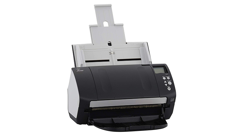Fujitsu FI-7160 scanner front facing with document feeder open
