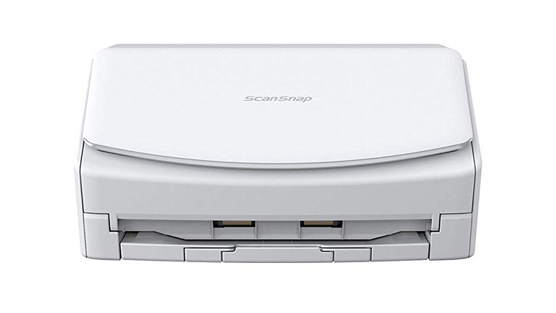 Fujitsu ScanSnap iX1500 scanner front view with lid down