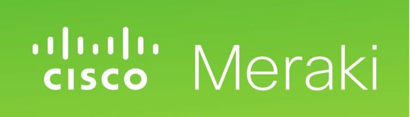Cisco Meraki logo with green background