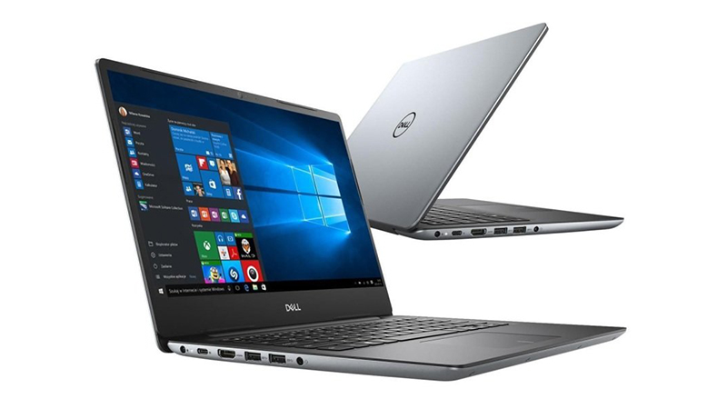 Dell Vostro 5481 laptop showing front side view and back view of laptop