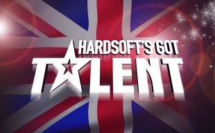 HardSoft's Got Talent on a Union Flag background