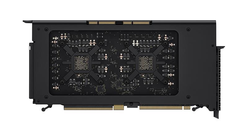 Radeon Pro Vega II Duo MPX Module Kit showing inside and outside of module