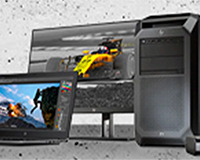 Z by HP showing the laptop, monitor and desktop in the range