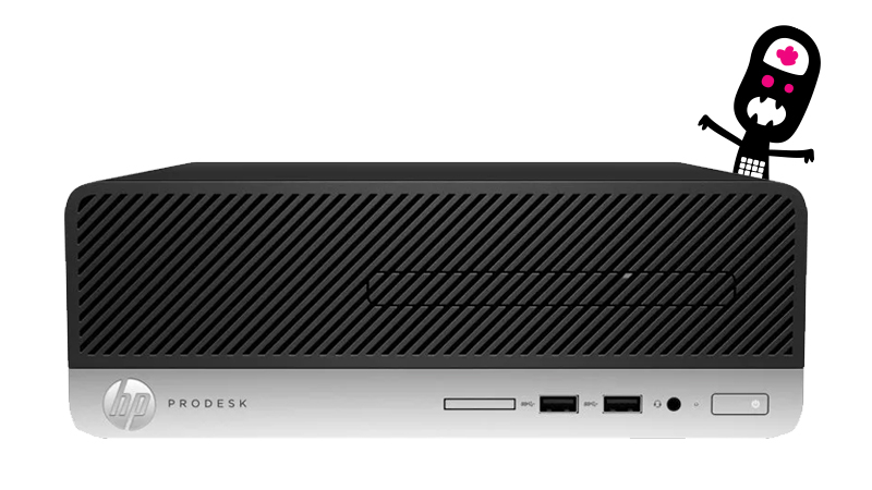 HP ProDesk 400 G6 i5 front side view