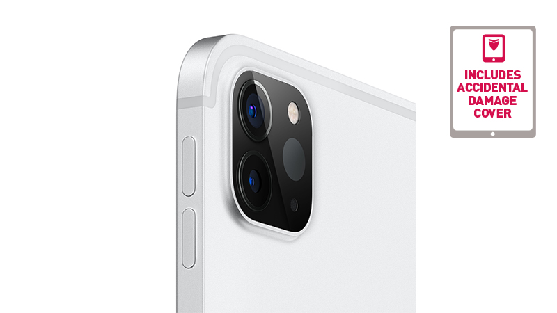 """iPad Pro 11"""" side/back view showing new camera"""