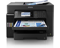 Epson EcoTank ET-16600 A3+ Colour Multifunction Inkjet Printer front view with sheets in