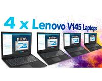 4 x Lenovo V145 laptops - lease all four for £8.50 per week! Showing 4 x Lenovo v145 laptops